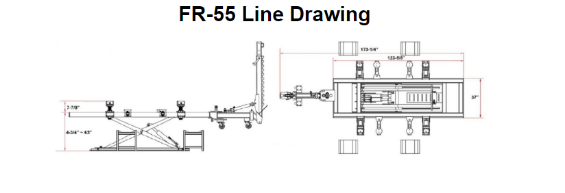 FR-55 Frame Rack Machine Drawing