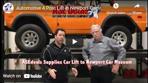 Automotive 4 Post Lift in Newport Car Museum