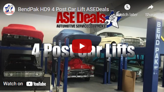 BendPak HD9 4 Post Car Lift ASEDeals Video