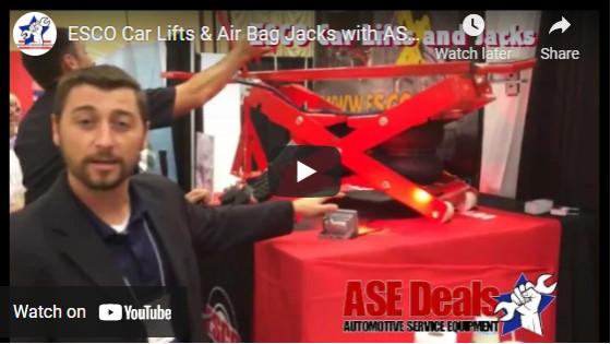 ESCO Car Lifts & Air Bag Jacks with ASEDeals.com at SEMA 2016