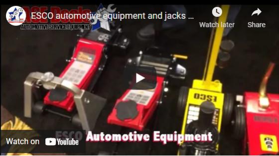 ESCO automotive equipment and jacks with ASEDeals.com at SEMA 2016