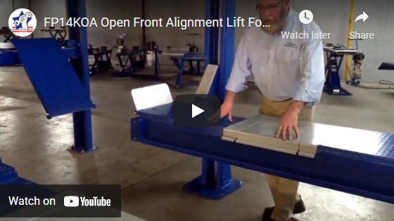 FP14KOA Open Front Alignment Lift For Autos and Light Trucks