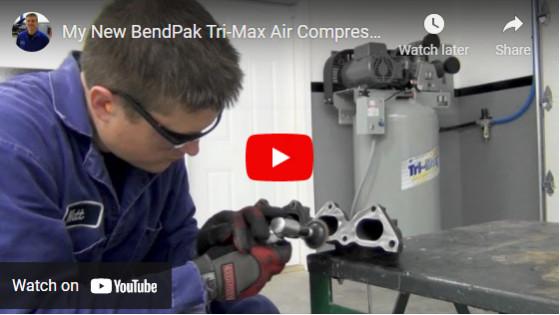My New BendPak Tri-Max Air Compressor - Overview & Setup