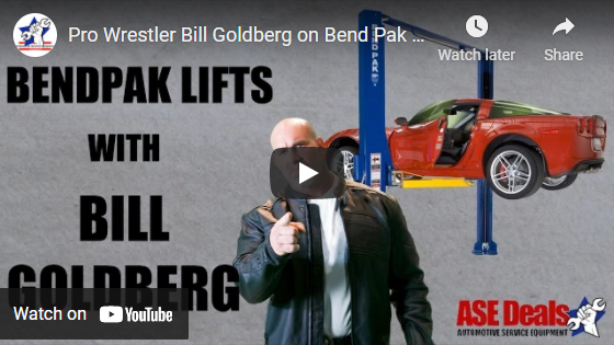 Video: Pro Wrestler Bill Goldberg on Bend Pak lifts and ASEDeals