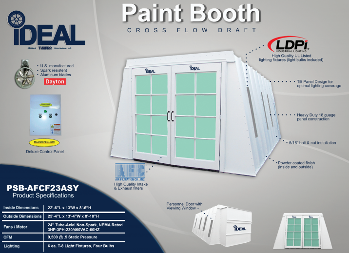 iDeal Paint Spray Booth PSBAFCF23ASY