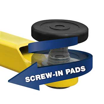 2 Post Lift screw pads