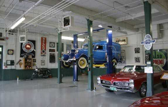 Hemmings Classic Car Museum with 2 post lift