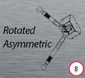 Launch Asymmetric two post lift