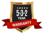 AMGO 5/3/2 Warranty