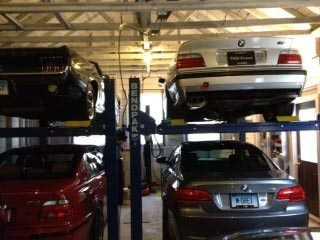 Menation Two Bendpak Hd9 Auto Lifts