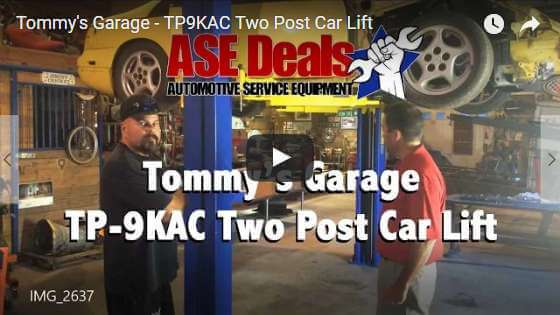 Video: Tommy's Garage - TP9KAC Two Post Car Lift